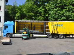 Loading and transport of our metal profiles